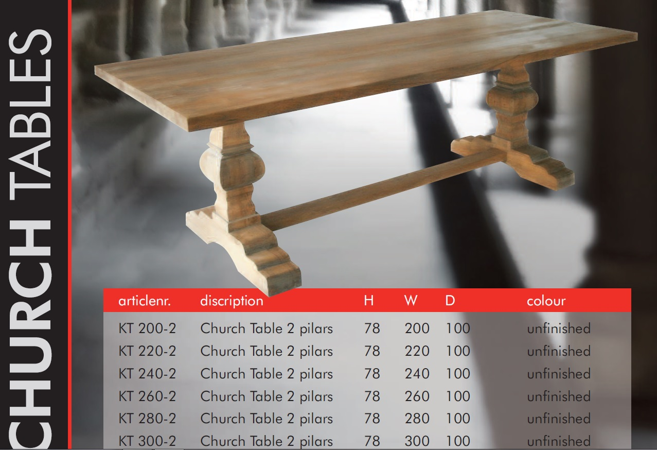 church tables